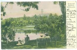 1911, Australia, Melbourne, Botanical Gardens. Printed Pc, Used. - Melbourne