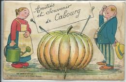 """Cabourg-Carte à Système-""""Amitiés Et Souvenir De Cabourg (toutes Scannées) (Légère Pliure Bord Gauche Au Centre,voir Scan - Cabourg"""