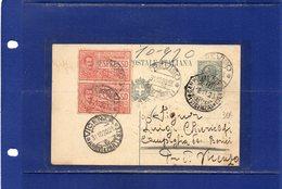 ##(DAN185)-1920-cartolina  Postale Espresso  Cent.15 Filagrano C45  Mill.20  Da  Treviso Per Campiglia Dei Berici - 1900-44 Vittorio Emanuele III
