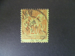 SAGE N° 96  20 CTS BRIQUE SUR VERT OBLITERE  Cote 5 € - 1876-1898 Sage (Type II)