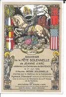 """MILITARIA (14/18) CPA """"FÊTE DE JEANNE D'ARC"""" Xème ARMéE SUPERBE (A LIRE) - Guerre 1914-18"""