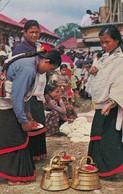 11938-TYPICAL WOMEN OF KATHMANDU VALLEY PREPARING FOR WORSHIP-NEPAL-FP - Nepal