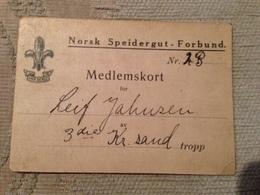 Norway  1925 Membership Card - Facturas & Documentos Mercantiles