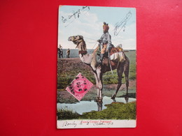 CPA INDE CAMEL CAVALRY TRANSPORT DROMADAIRE TIMBRE INDE - India