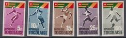 Togo 1965 N+ 453 - 456 + PA48 Jeux Africain De Brazaville  Imperf ** MNH - Francobolli