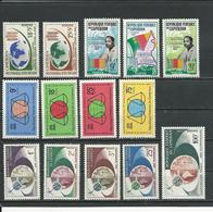 CAMEROUN Scott B37-8, 389-1, 392-5, 380-3 C45 Yvert 365-6, 372-4, 375-8, 361-4 PA57 (14) ** Sauf 365-6* Cote 11,50$ 1963 - Cameroun (1960-...)