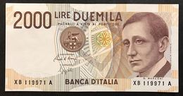 2000 Lire Marconi Serie Sostitutiva Xb 1992 Sup LOTTO 1825 - [ 2] 1946-… : Républic