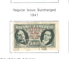 Brasile PA 1941 Em.Prec.Surch.  Scott.C45 Used.See Scan On Scott.Page - Posta Aerea