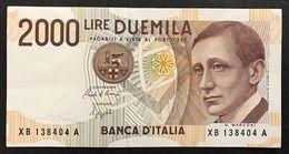 2000 Lire Marconi Serie Sostitutiva Xb 1992 Spl+ LOTTO 1827 - [ 2] 1946-… : Républic