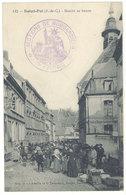 Cpa Saint-Pol - Marché Au Beurre ( Tampon Militaire )   ( S. 2589 ) - Saint Pol Sur Ternoise
