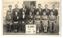 26 ALBON CARTE PHOTO VIVE LA CLASSE 54 CPA 2 SCANS - France