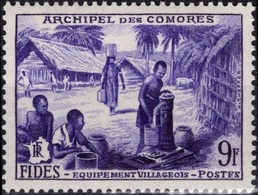 COMORES Poste  13 ** MNH FIDES F.I.D.E.S. équipement De Village Fontaine Brunnen Fountain Point D'eau - Comoro Islands (1950-1975)