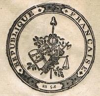 Colmar An 8 - 7.5.1800 Place D'administrateur Héraldique - Documentos Históricos