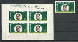 CAMEROUN Scott C52, C52aYvert PA63, BF3 (1+bloc) ** Cote 12,50$ 1964 - Cameroun (1960-...)