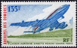 COMORES Poste Aérienne  65 ** MNH Avion De Ligne Boeing 707 Sur 1ère Liaison Moroni Hahaya Paris - Comoro Islands (1950-1975)