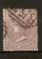 MAURITIUS 1860 - 1863 1d PURPLE - BROWN SG 46 NO WATERMARK FINE USED Cat £45 - Mauritius (...-1967)