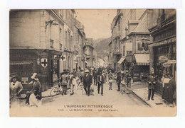 L'Auvergne Pittoresque. Le Mont Dore. La Rue Favart. (2758) - Le Mont Dore