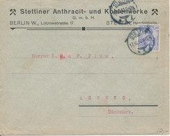 Germany Reich Cover Sent To Denmark Stettin 17-10-1910 (Stettiner Anthracit- Und Kohlenwerke) - Briefe U. Dokumente