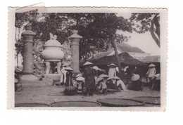 Vietnam Viet Nam Indochine Scene Animée Carte Photo Cachet Poste Aux Armées 1951 TOE - Vietnam