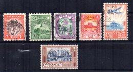Ceylon - 1950 - Definitives - Used - Sri Lanka (Ceylan) (1948-...)
