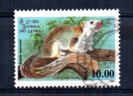 Sri Lanka - 1994 - 10r Giant Squirrel - Used - Sri Lanka (Ceylan) (1948-...)