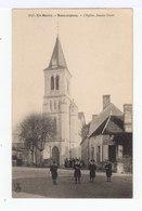 En Berry. Sancergues. L'église, Façade Ouest. Ecoliers En Blouse, Avec Bérets. (2764) - Sancergues