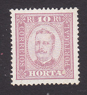Horta, Scott #2, Mint Hinged, King Carlos, Issued 1892 - Horta