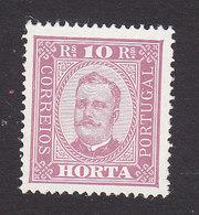 Horta, Scott #2, Mint No Gum, King Carlos, Issued 1892 - Horta