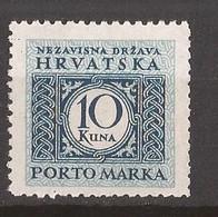 1942 15B  PORTO PERF L--10 1-2  NDH KROATIEN CROAZIA HRVATSKA MNH - Croatie
