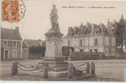 CPA 72 MAYET Monument Guerre 1914 1918 Et Place 1929 - Mayet