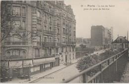 CPA 75 PARIS XII La Rue Du Sahel Pris Du Pont Du Chemin De Fer De Ceinture De La Station Bel Air - Distretto: 12