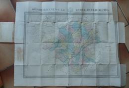 Carte Loire-Inférieure Loire Atlantique Circa 1840 - Geographical Maps