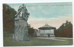Postcard Guernsey .   Unused   Victor Hugo Statue Philco - Guernsey