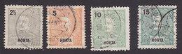 Horta, Scott #13-15, 17, Used, King Carlos, Issued 1897 - Horta