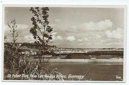 Postcard Guernsey .   Unused   Rp Saints St. Peters Port From Les Val Des Terres   Pub. Photo-precision - Guernsey