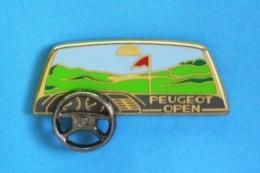1 PIN'S //   ** PEUGEOT / OPEN ** . (Arthus Bertrand Paris) . Volant Mobile - Golf