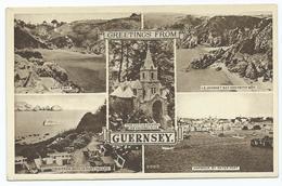 Postcard Guernsey .photogravure Multiview Unused - Guernsey
