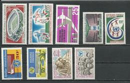CAMEROUN Scott C77-8, C79, 444-5, 439-440, 450-1 Yvert PA88-9, PA90, 429-0, 420, 421, 431-2 (9) ** Cote 14,70$ 1966 - Cameroun (1960-...)