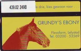Telefoonkaart  LANDIS&GYR NEDERLAND * RCZ.439.02    249b * Grundys Ebony * Paard * Horse * TK * ONGEBRUIKT * MINT - Privat