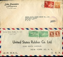 33558 Cuba, 2 Circuled Cover To U.s.a. (see Scan), Some Transport Damages ! - Cuba