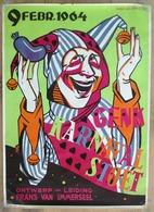 """VIEILLE AFFICHE """" CARNAVAL à GENK (Belgique) 1962 Par FRANS VAN IMMERSEEL ! 84 X 60 CM ! - Affiches"""