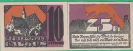 2 Billets - Deutschland - Dargun , 2  Scheine Von 1921 - [11] Local Banknote Issues
