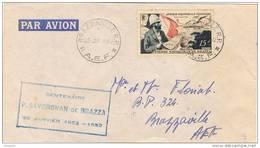 28477. Carta Aerea BRAZZAVILLE (A.E.F.) 1952. Centenario Savorgnan De Brazza - A.E.F. (1936-1958)