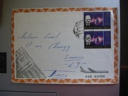 Enveloppe  Timbrée Nouvelle Hebrides 1966 - Légende Anglaise