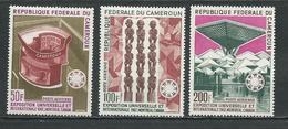 CAMEROUN Scott C92-C94 Yvert PA103-PA105 (3) ** Cote 8,50$ 1967 - Cameroun (1960-...)