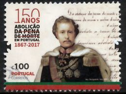 !■■■■■ds■■ Portugal 2017 AF#4857ø 150 Years Abolition Of The Death Penalty Human Rights Nice Stamp VFU (k0048) - 1910 - ... Repubblica