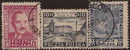 POLAND 1949 Liberation Anniv SG 649-51 U PY111 - 1944-.... République