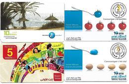 @+ Tunisie - Discount - Lot De 4 Recharges GSM Tunisie (lot 1) - Tunisie