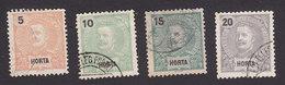 Horta, Scott #14-15, 17-18, Used, King Carlos, Issued 1897 - Horta