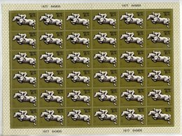 SOVIET UNION 1977 Olympic Publicity 15 K. + 6 K. Sheet Of 36 MNH / **.  Michel 4645 - 1923-1991 USSR
